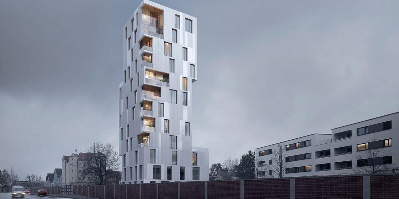 Bakpak gana el concurso internacional para el diseño de una torre de viviendas y oficinas en Augsburg, Múnich.