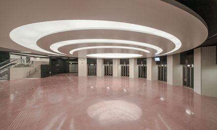 Estación Zona Universitaria para la Línea 9 del Metro en Barcelona