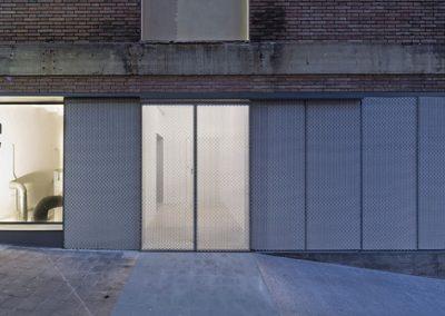 La instalación es visible desde el exterior