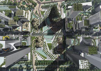 El parque central será el punto de encuentro de los diferentes espacios