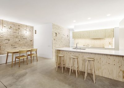 Interior de la vivienda con espacios más luminosos y diáfanos