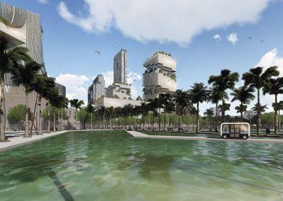 El proyecto incluye la recuperación de un lago urbano