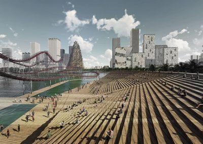 Dos grandes plataformas de madera unirán el mar con la montaña