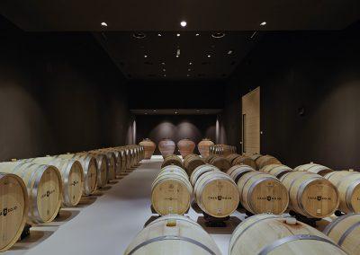 La parte norte y el subsuelo se reserva para la elaboracion del vino en estancias protegidas del calor y la radiación solar