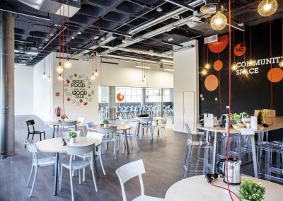 Zona office y de espacio comunitario
