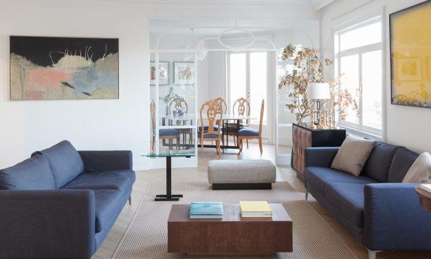 De oficina a vivienda ecléctica en el centro de Madrid por Iker López Estudio