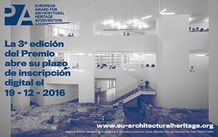 Abierta la inscripción de la 3ª edición del Premio Europeo de Intervención en el Patrimonio Arquitectónico AADIPA