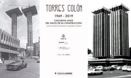 El Fernán Gómez. CC acoge la exposición Torres Colón: 50 años del inicio de su construcción