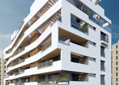 Las terrazas se configuran a partir de planos quebrados e independientes