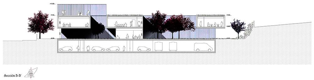 Espacios de relación interiores conectados por patios