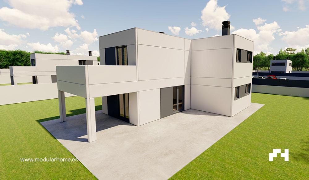 Casas de diseño para Modular Home por Vilalta Studio