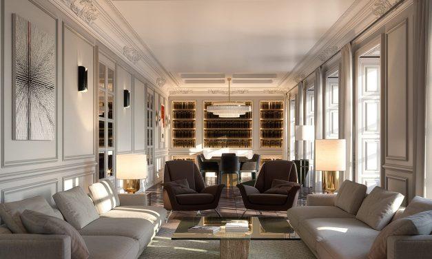 Ilmiodesign firman MABEL Villa de París, las viviendas más exclusivas de Madrid con fusión del estilo francés y milanés