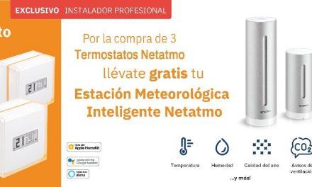 Legrand premia de nuevo al instalador, ahora con una estación meteorológica inteligente Netatmo